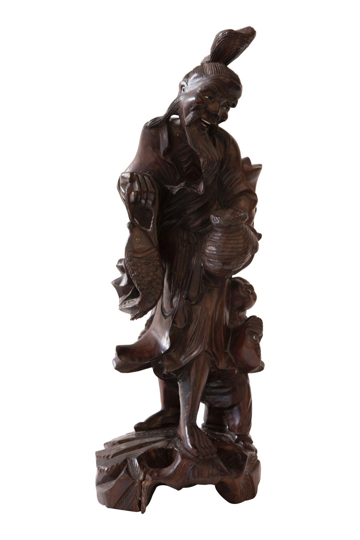 #32 Chinese wooden figure | Chinesische Holzfigur Image