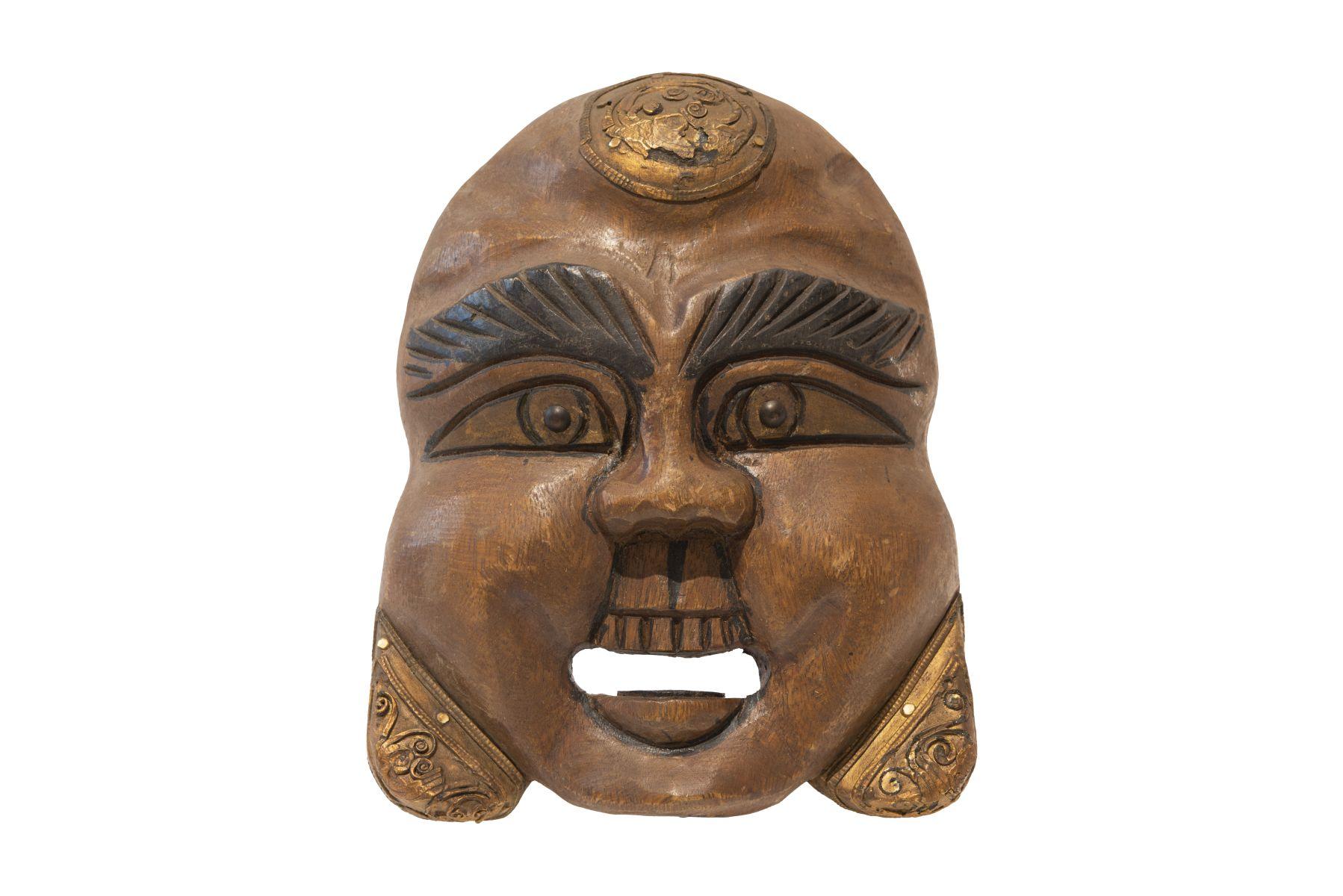 #41 Laughing wooden mask China | Lachende Holzmaske China Image