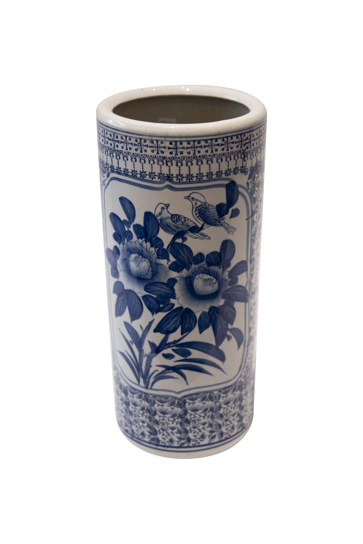 #46 Blue and white vase | Blau-weisse Vase Image