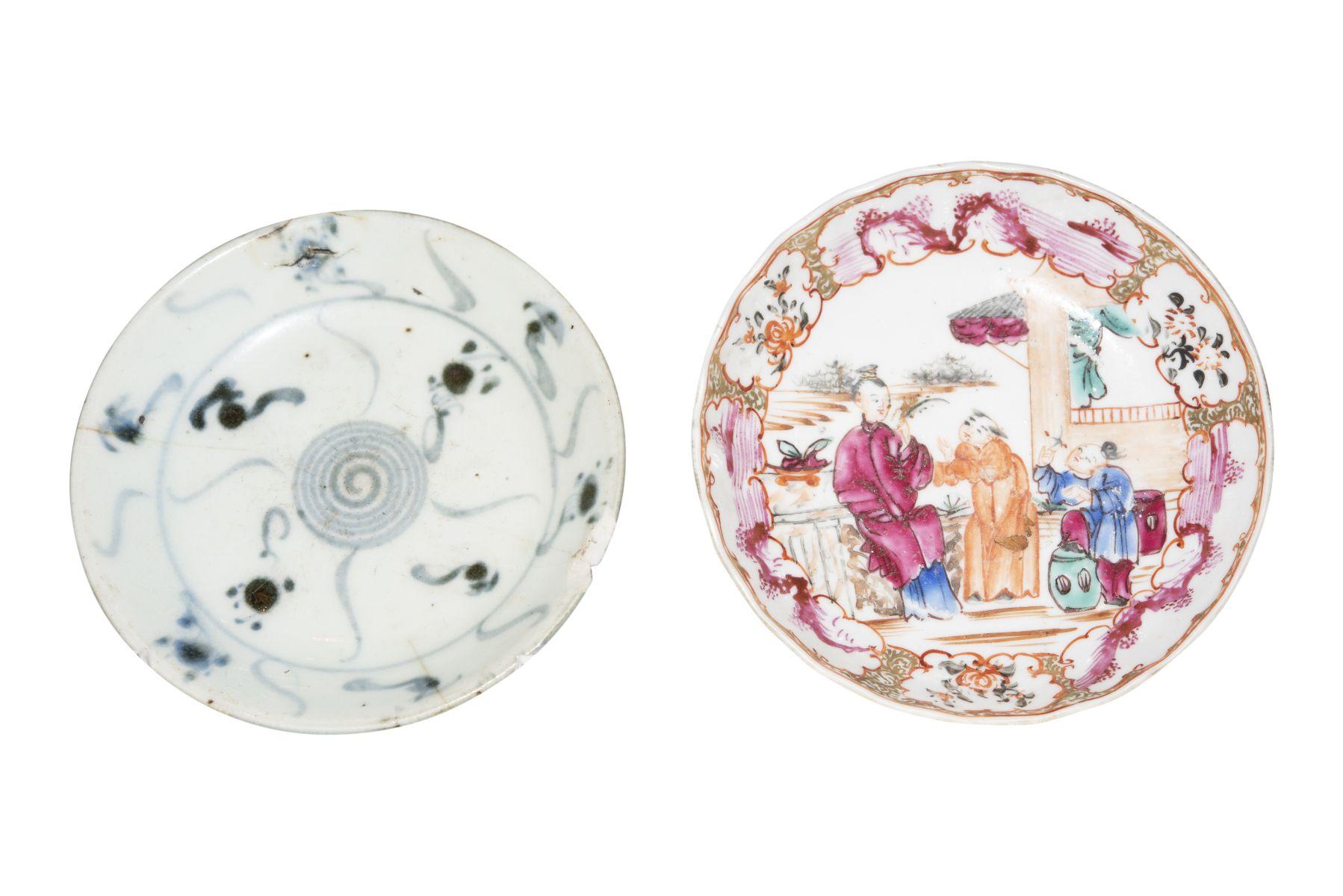 #77 2 small plates Qing Dynasty | 2 kleine Teller Qing Dynastie Image