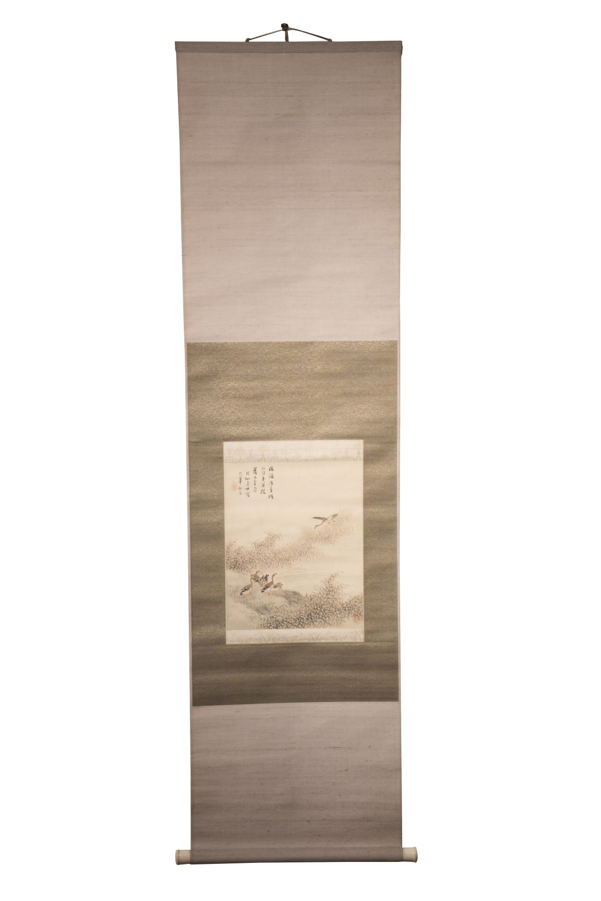 #83 Hanging scroll with gray geese | Hängerolle mit Graugänsen Image