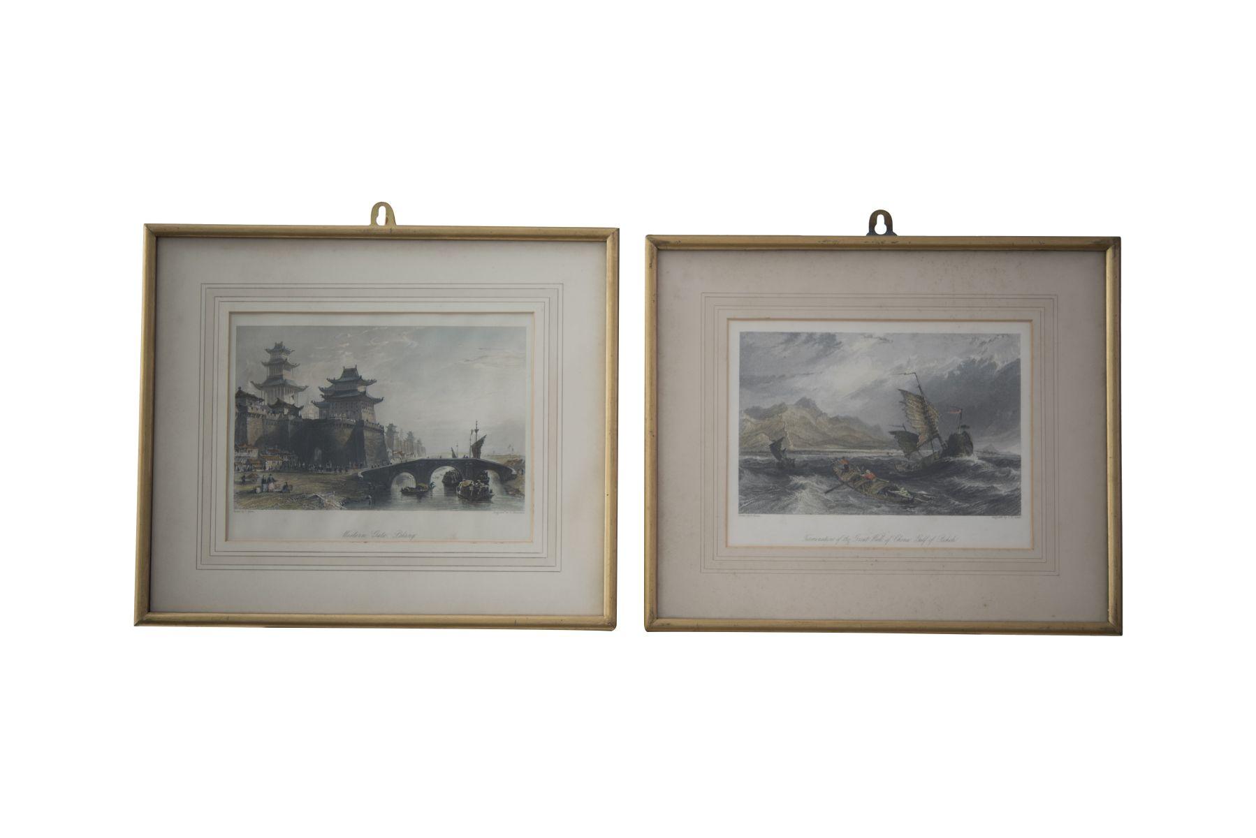 #88 2 copper engravings   2 Kupferstiche Image
