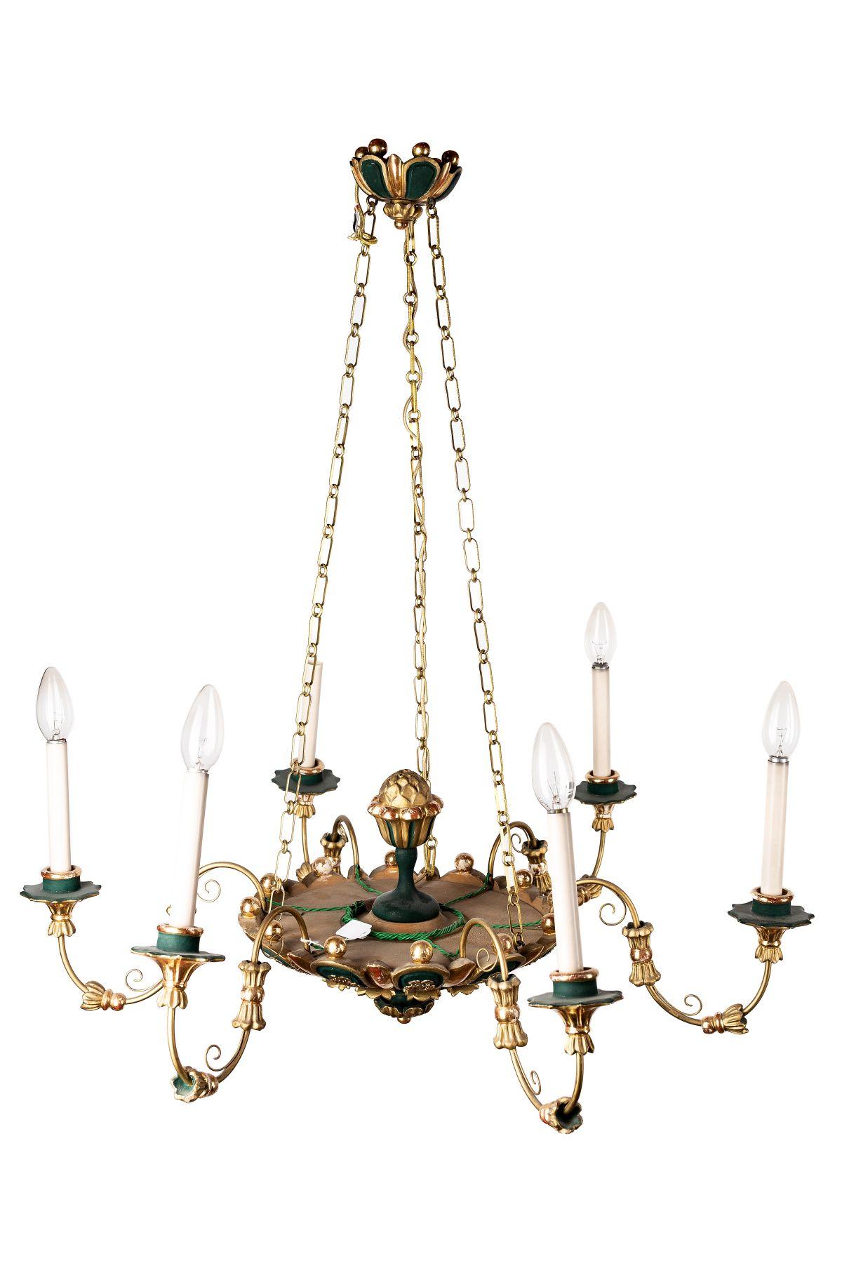 #96 6-armed Biedermeier chandelier | 6-armiger Biedermeir Luster Image