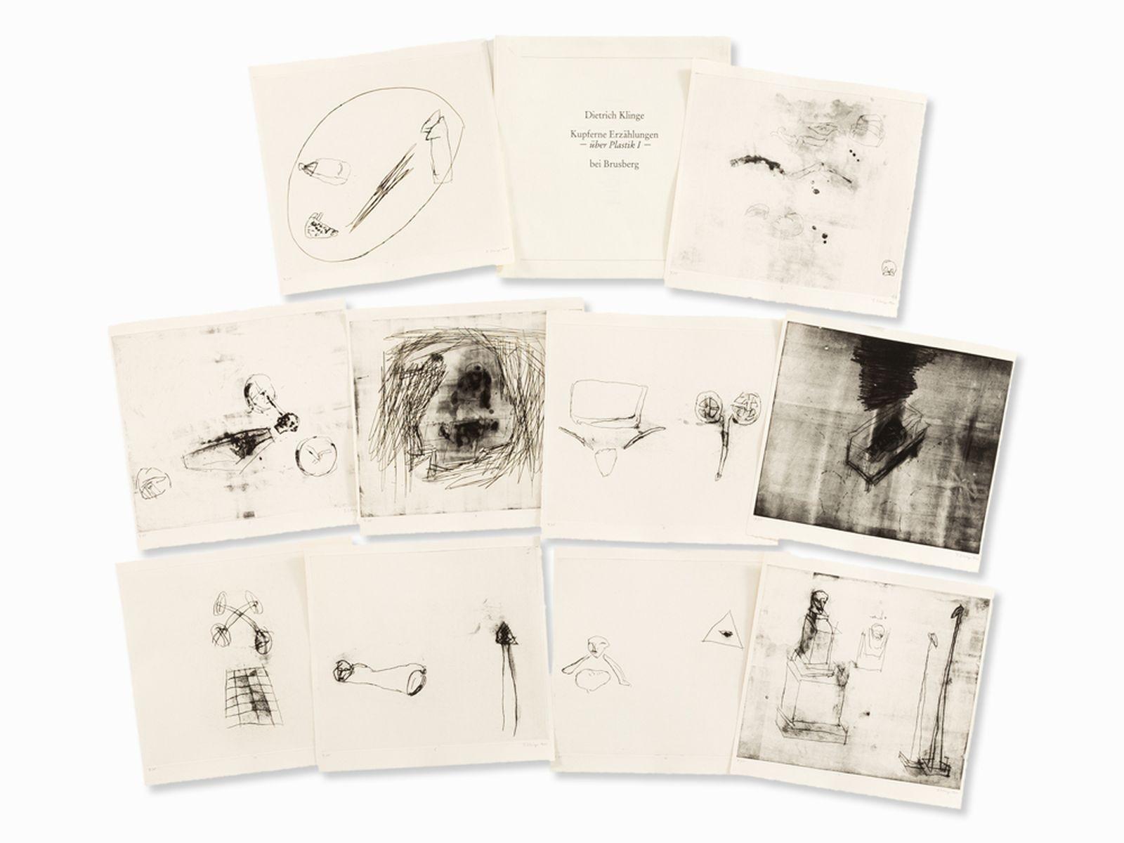 #109 Dietrich Klinge, Kupferne Erzählungen, 10 Etchings, 1991 | Dietrich Klinge, Kupferne Erzählungen, 10 Radierungen, 1991 Image