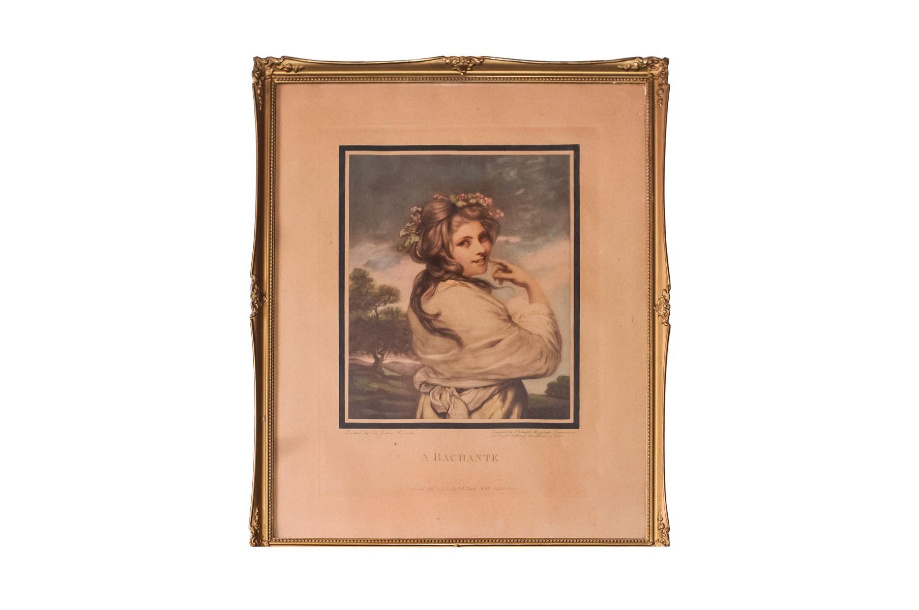 "#13 J.R. Smith (1751-1812) ""A Bachante"" 1781 | J.R. Smith (1751-1812) ""A Bachante"" 1781 Image"