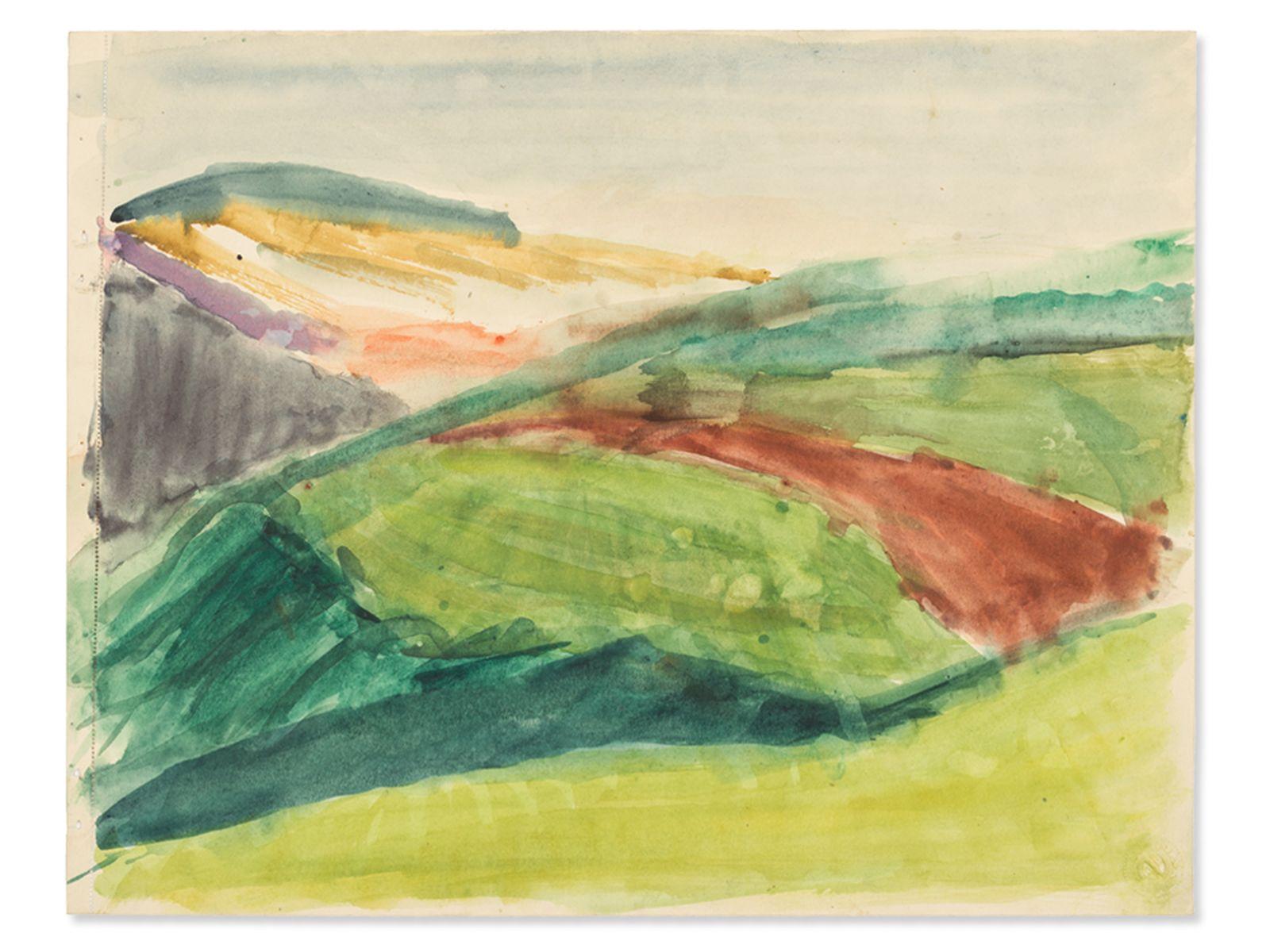 "#139 Rudolf Petrik, ""Landscape"" Austria, c. 1950 | Rudolf Petrik (1922-1991), ""Landschaft"" Österreich, ca. 1950 Image"