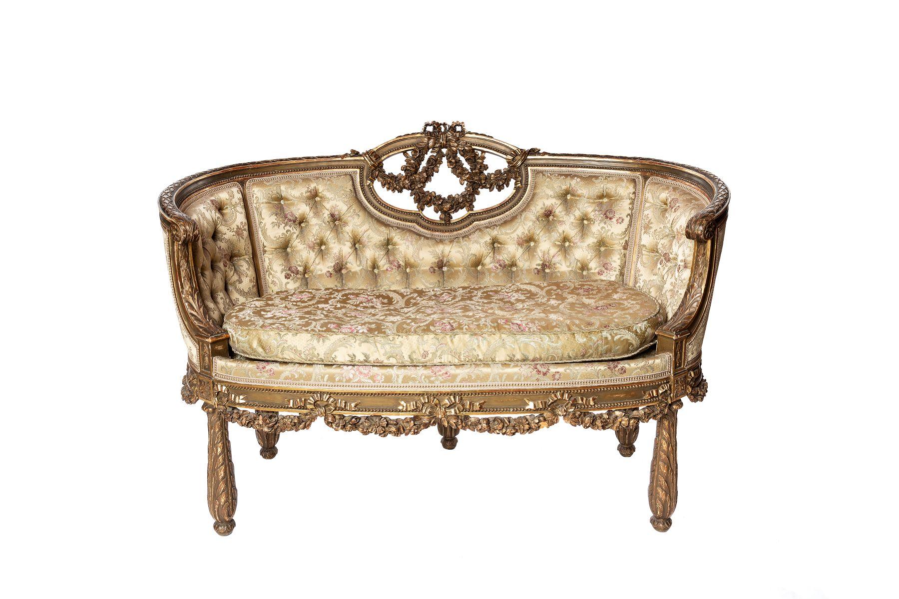 #162 Neo-Baroque bench | Neo-Barock Sitzbank Image