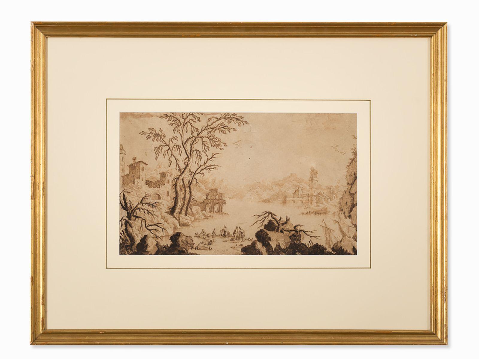 #64 Francesco Bosio (active 1725-1756), river landscape, 18th century | Francesco Bosio (tätig 1725-1756), Flusslandschaft, 18.Jh. Image