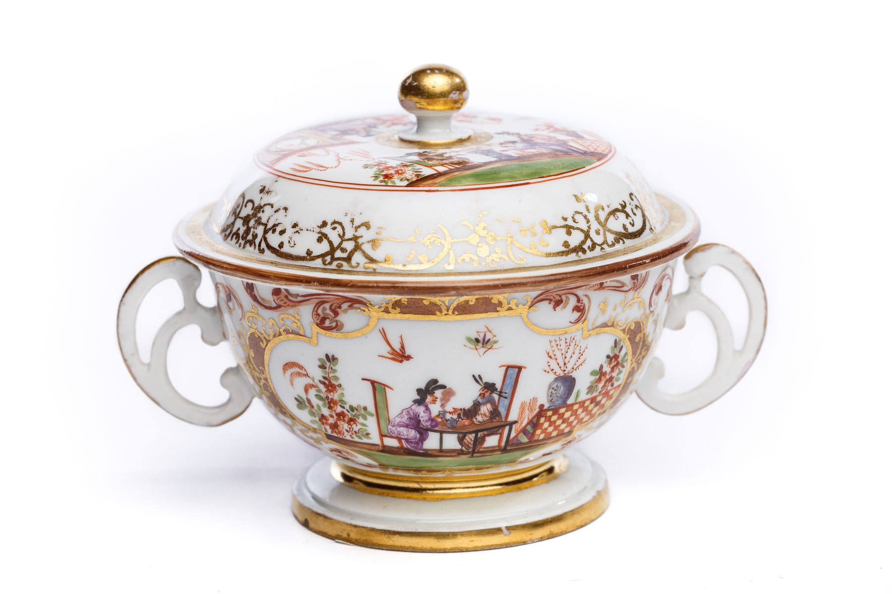 #10 Small, two-handled tureen with lid, Meissen 1725 | Kleine Suppenschale, Meissen 1725 Image