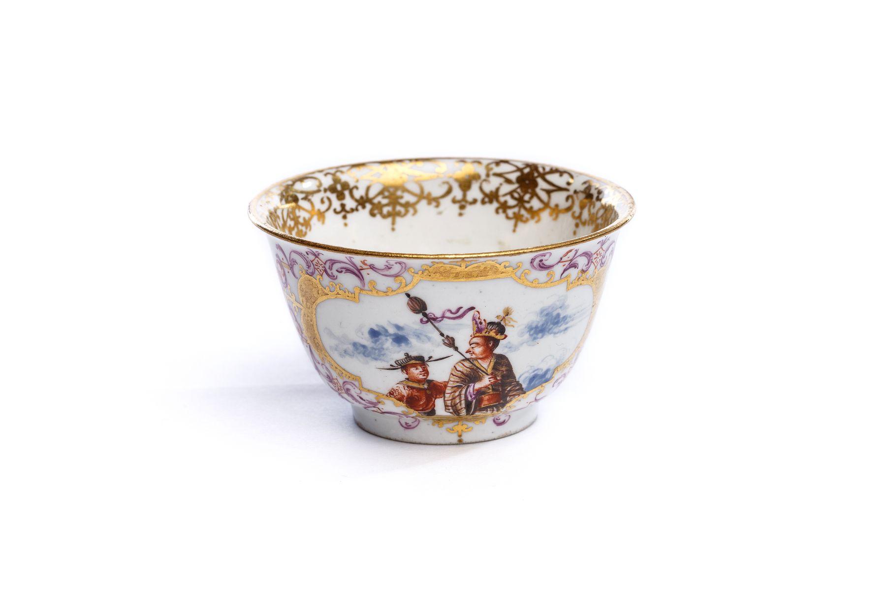 #16 Rare bowl without soucer, Meissen 1725   Koppchen, Meissen 1725, Malerei von Johann Gregorius Höroldt (1696-1775), Bonhams London - The Hoffmeister Collection Image