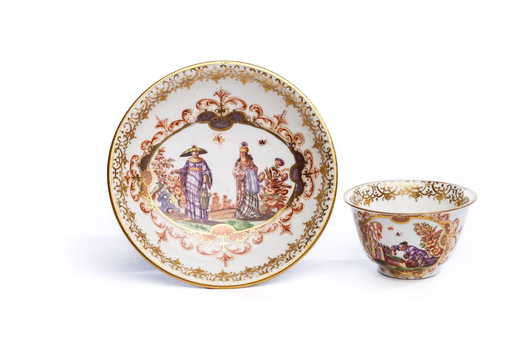 #17 Bowl  with saucer, Meissen 1723/24   Koppchen mit Unterschale, Meissen 1723/24 Image