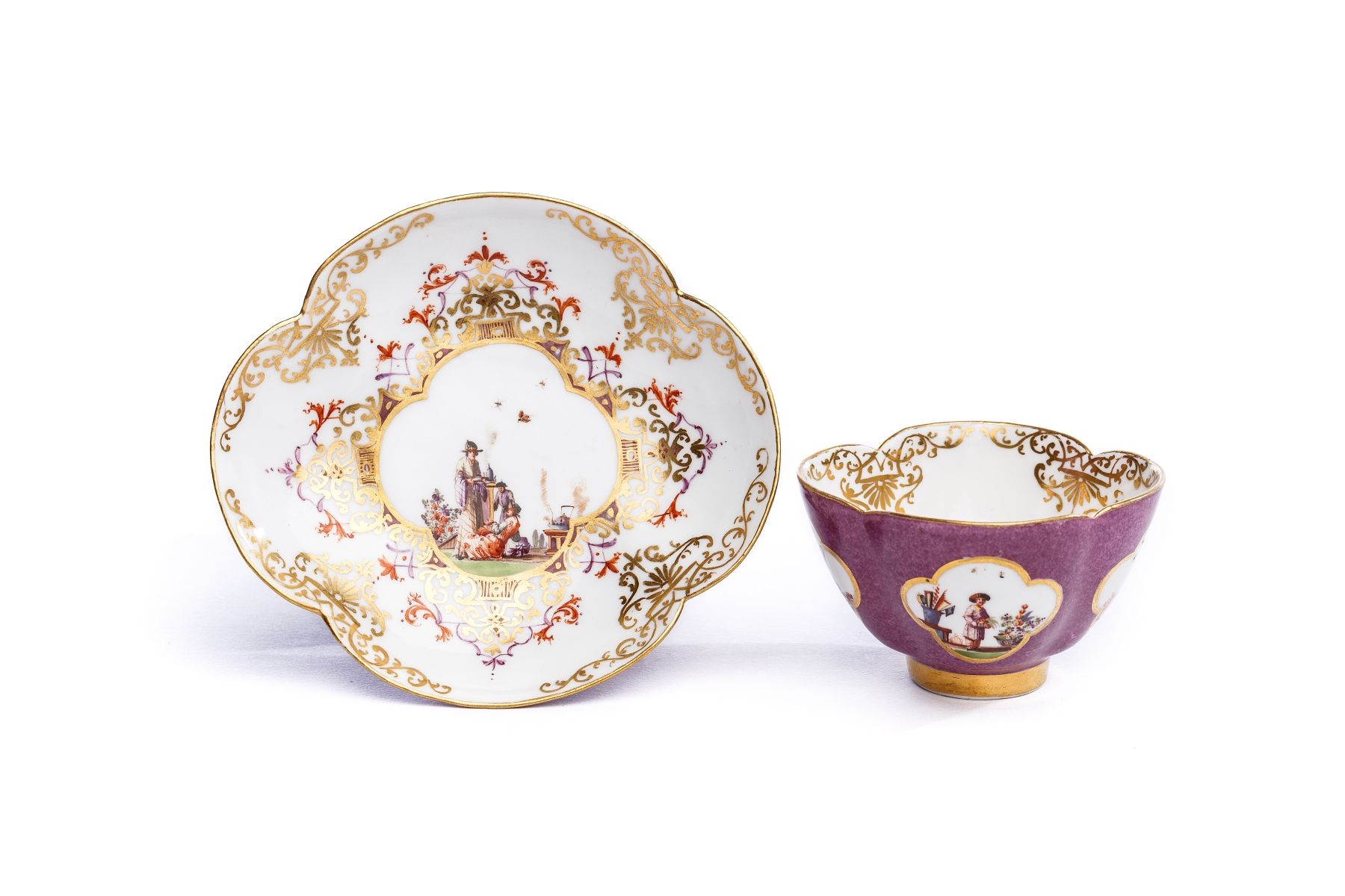 #21 Bowl with Saucer, Meissen 1728/30 | Koppchen mit Unterschale, Meissen 1728/30 Image
