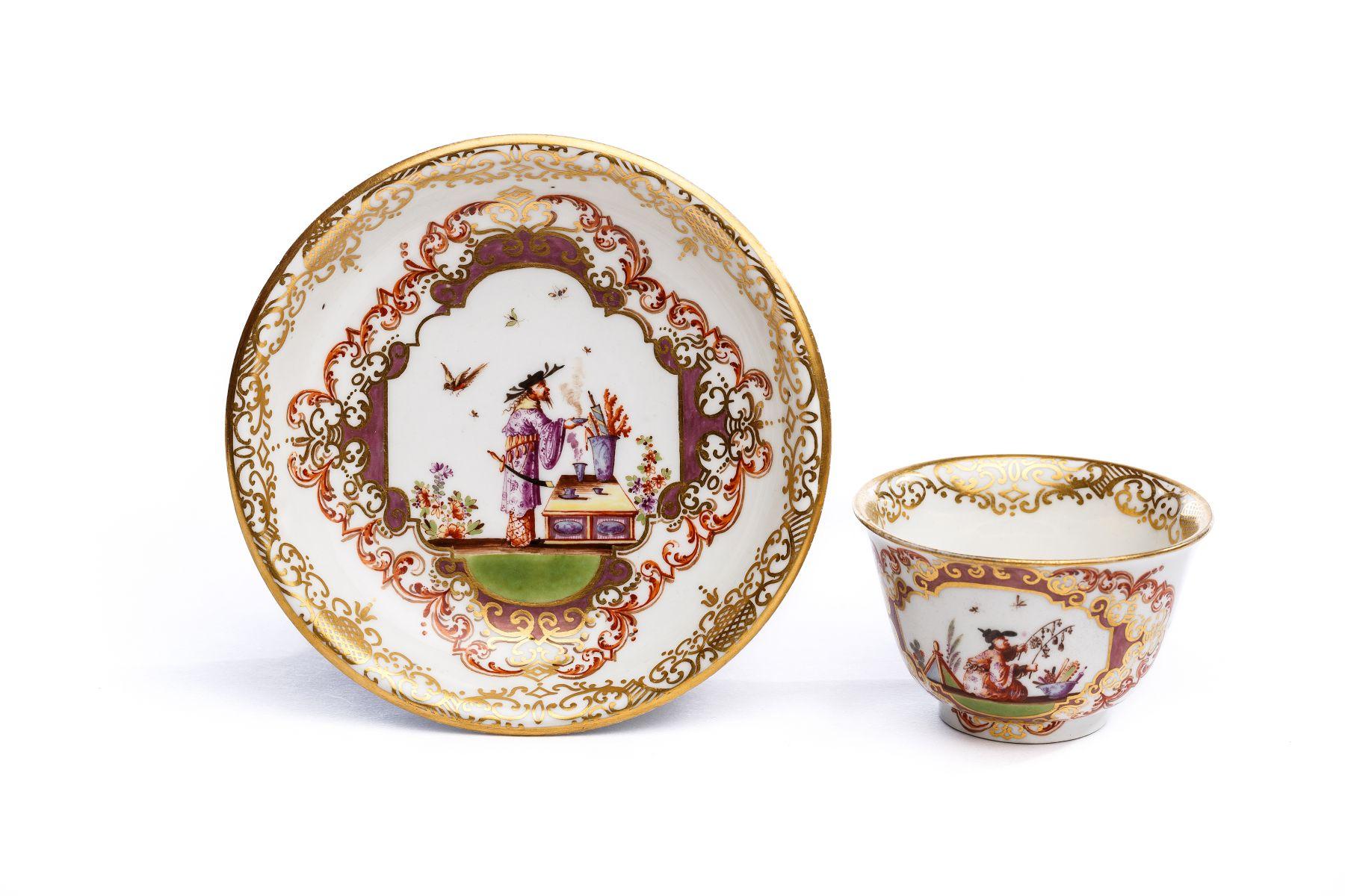 #27 Bowl with saucer, Meissen 1723/25 | Koppchen mit Unterschale, Meissen 1723/25 Image