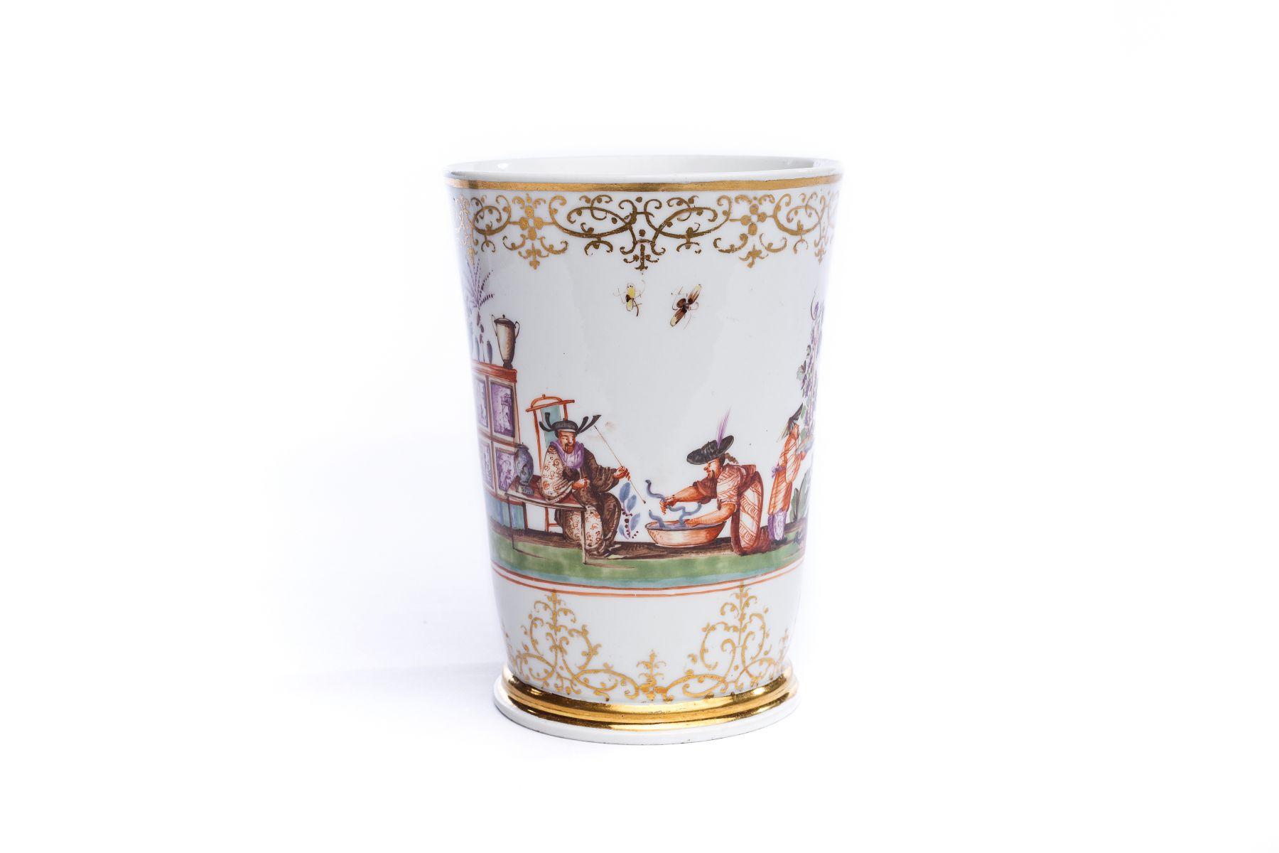#41 Beaker, Meissen 1730   Becher, Meissen 1730 Image