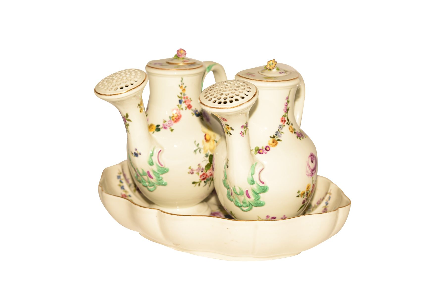 #53 Flower pots on Présentoir Meissen 1730 | Blumenkannen auf Présentoir Meissen 1730 Image
