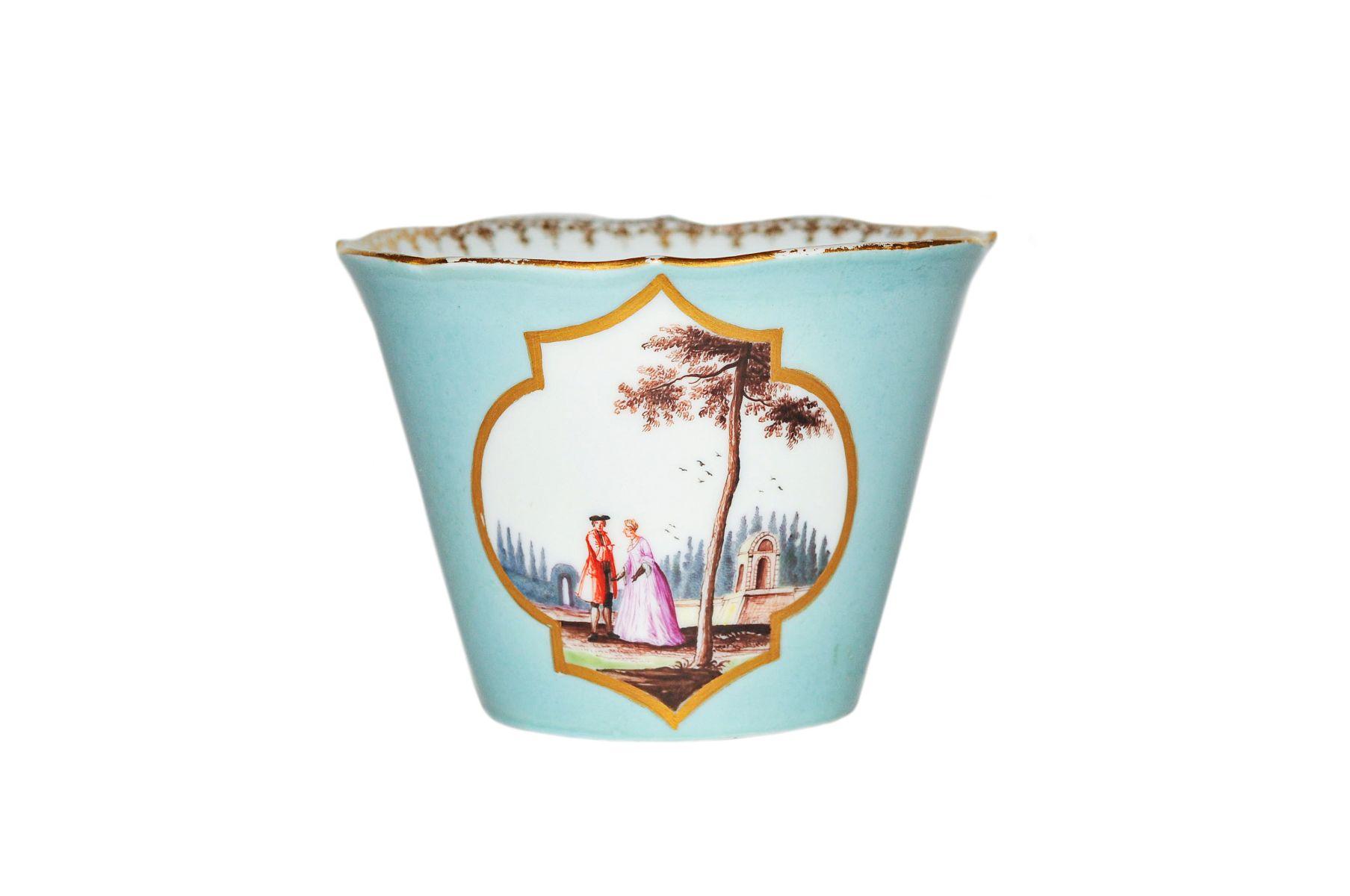 #77 Decorative cup with watteau scenes | Zierbecher mit Watteauszenen Image
