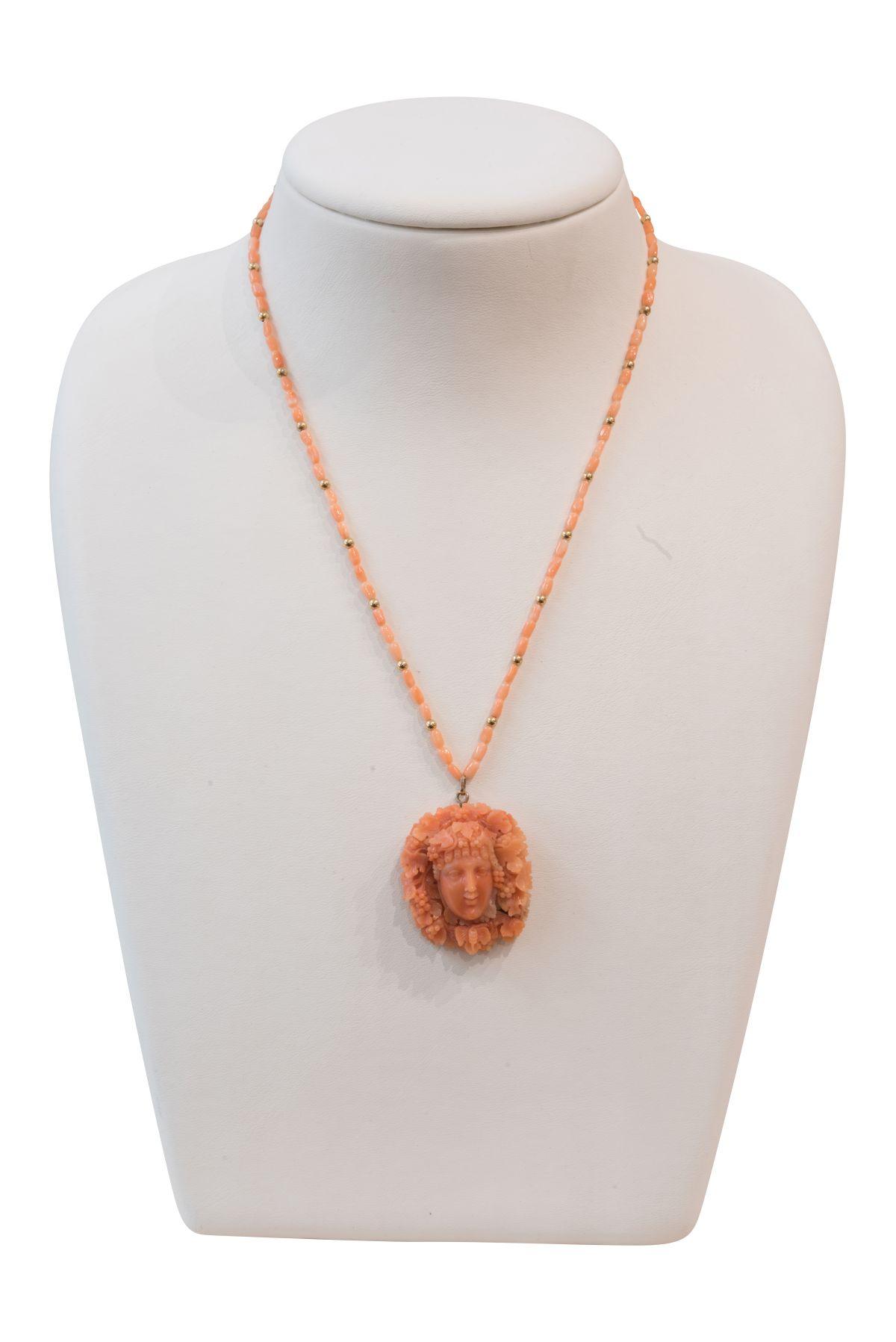 #180 Corallnecklace | Korallencollier Image