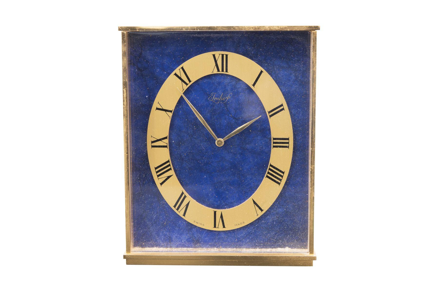 #44 IImhof Table clock 8 days | Imhof Tischuhr 8 Tage Image
