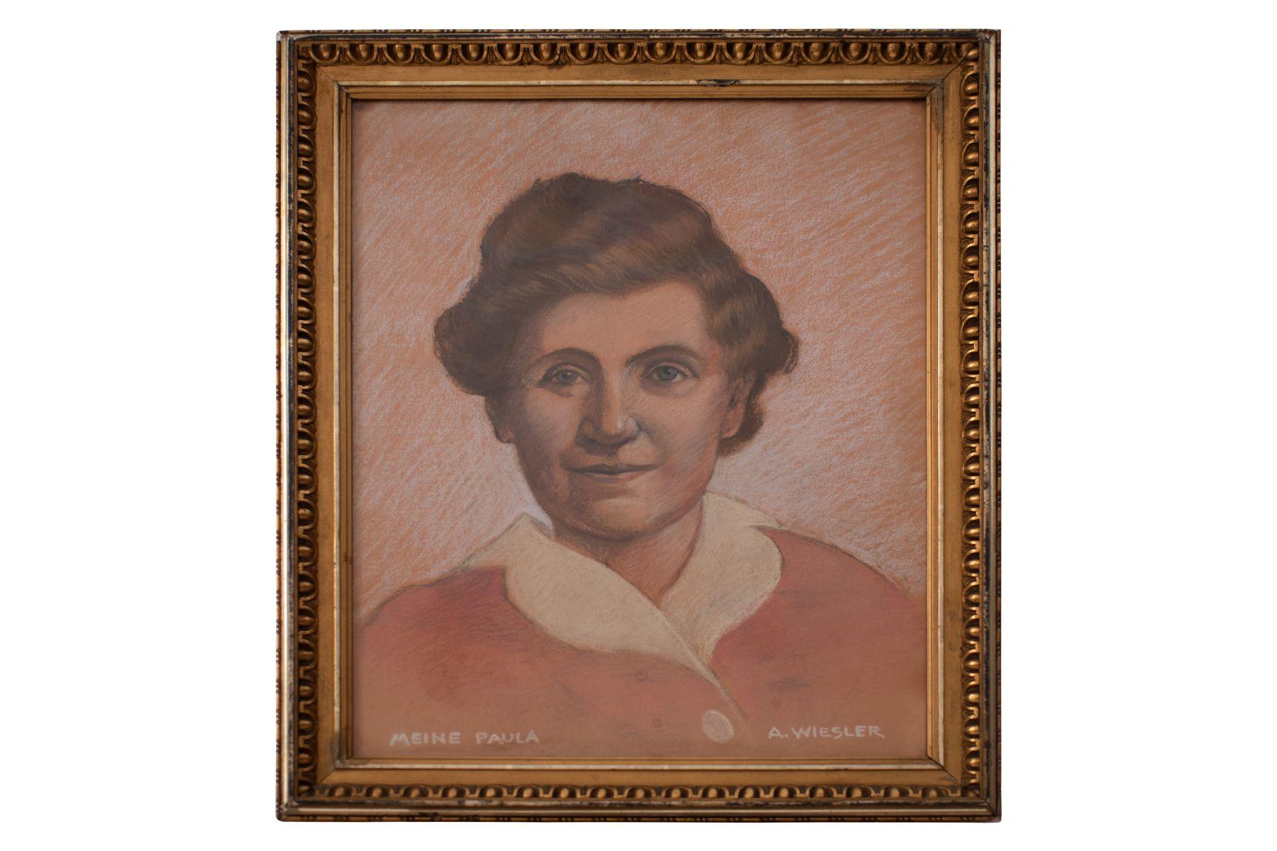 "#103 Portrait of companion ""Paula"" | Adolf Wiesler (1878-1958) ""Meine Paula"" Image"
