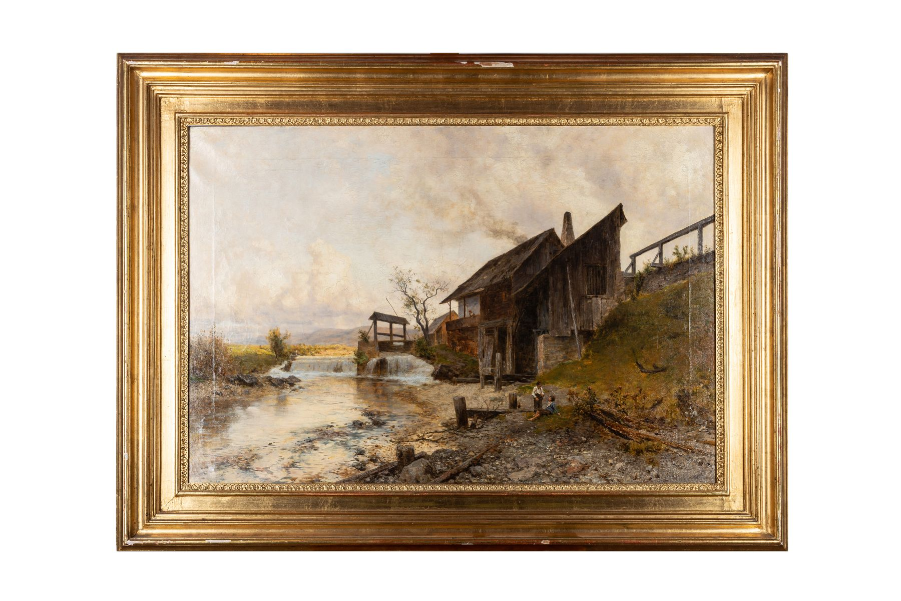 "#118 Max Suppantschitsch (1845-1953), ""Boys at the Mill"" | Max Suppantschitsch (1845-1953), ""Knaben an der Mühle"" Image"