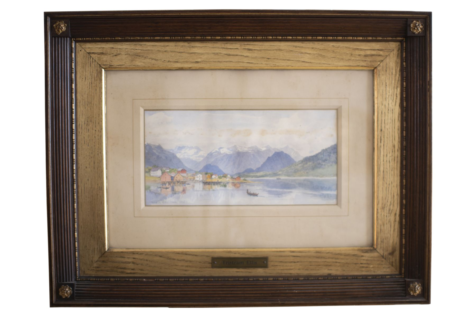 "#144 Tristam Ellis (1844-1922) ""Fiord Landscape in Norway"" | Tristam Ellis (1844-1922) ""Fiordlandschaft in Norwegen"" Image"