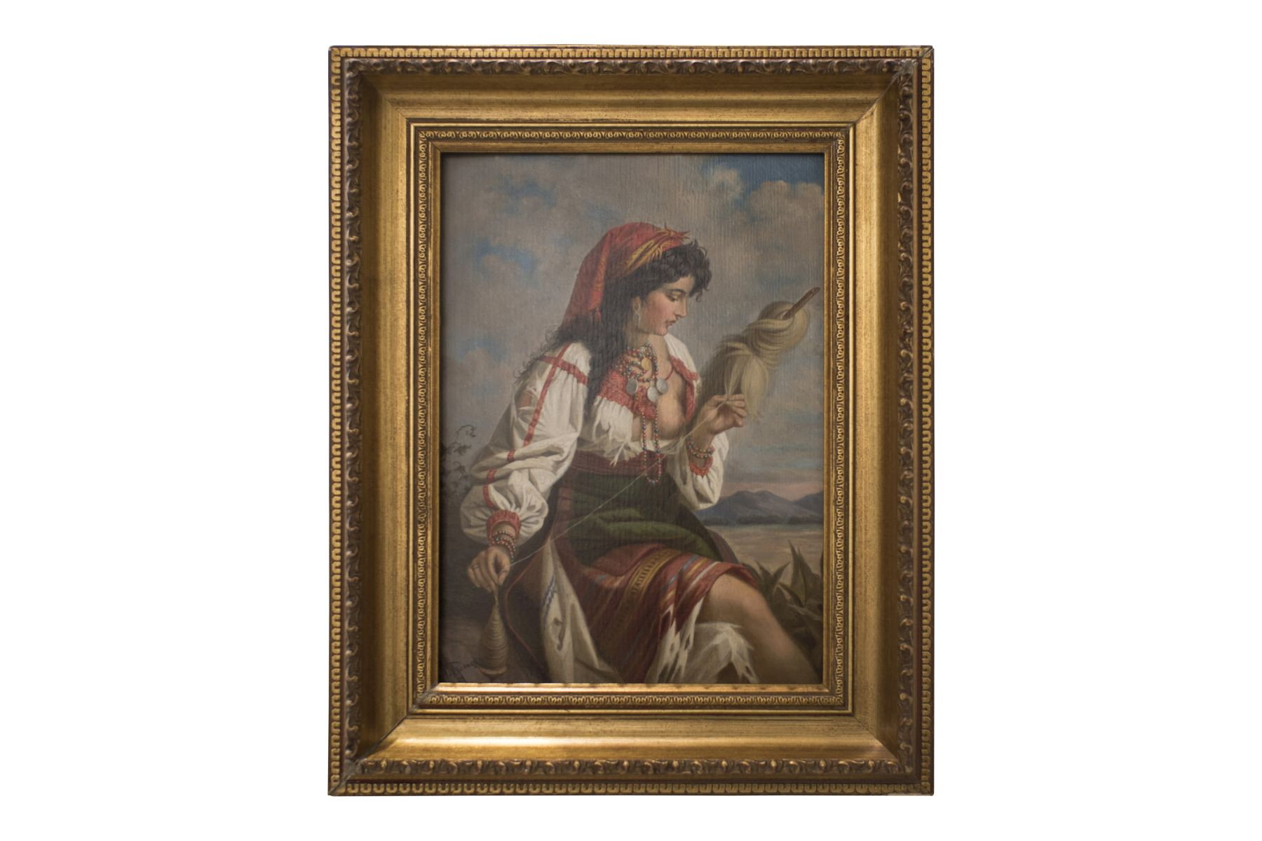 "#145 Anton Romako (1832-1889) ""The Spinner"" | Anton Romako (1832-1889) ""Die Spinnerin"" Image"