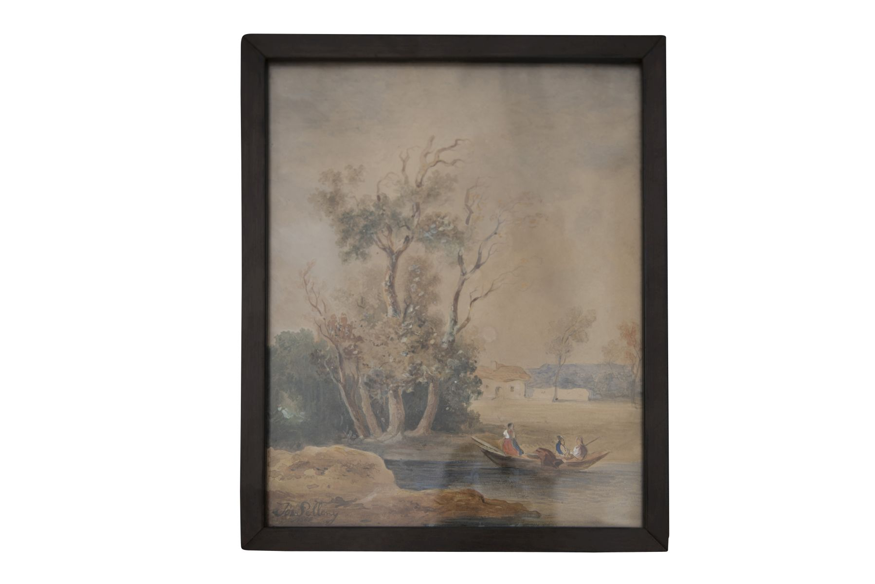 "#150 Joseph Selleny (1824-1875) ""River in a Southern Landscape"" | Joseph Selleny (1824-1875) ""Fluss in südlicher Landschaft"" Image"