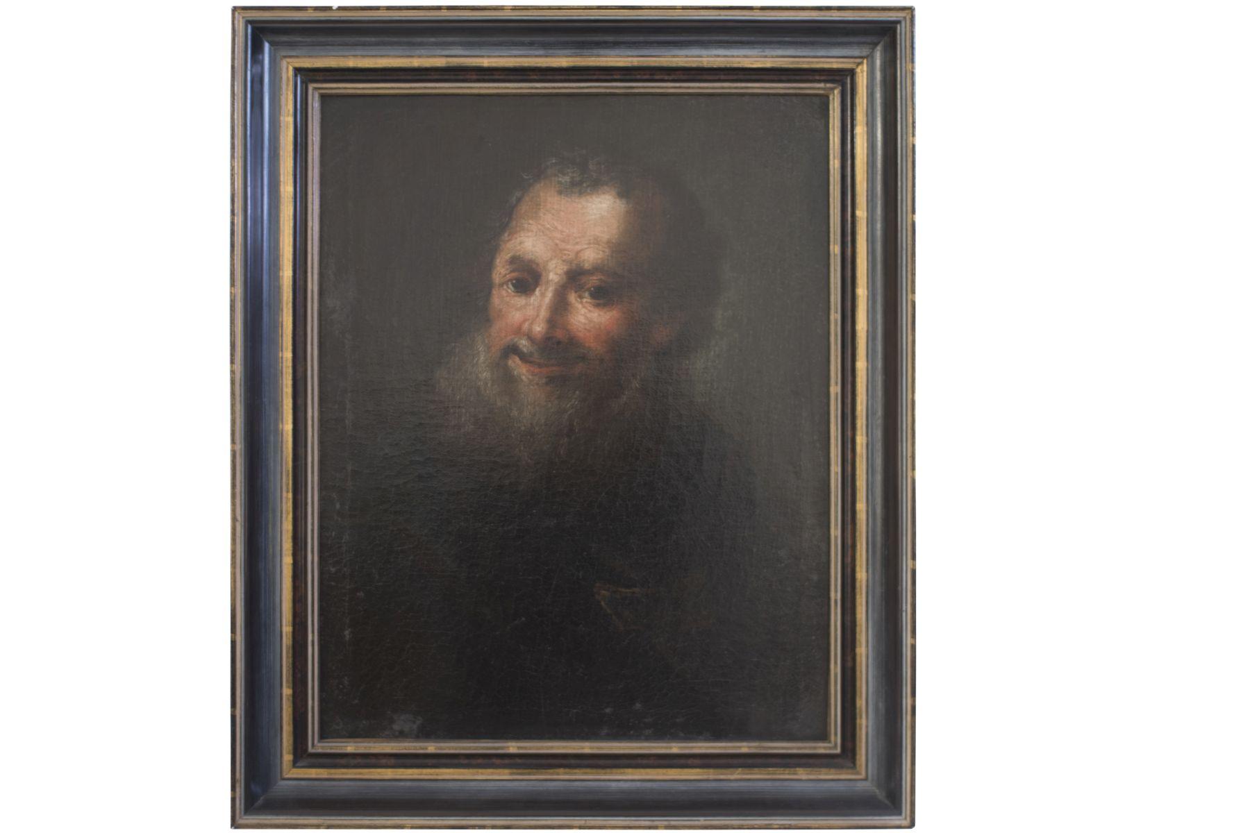 "#20 Historism painter around 1850 ""Old man with beard"" | Historismus Maler um 1850 ""Alter Mann mit Bart"" Image"