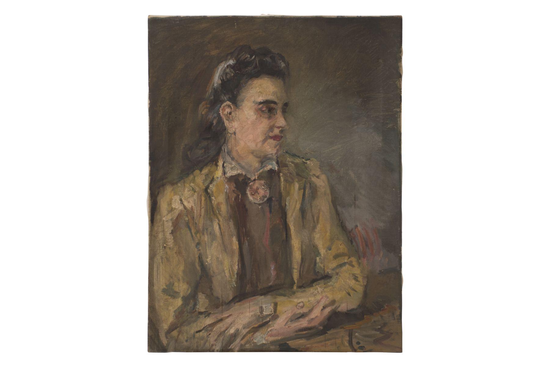 "#32 Artist early 20th century ""Portrait of an elegant lady"" | Künstler Anfang 20. Jahrhundert ""Portrait einer eleganten Dame"" Image"