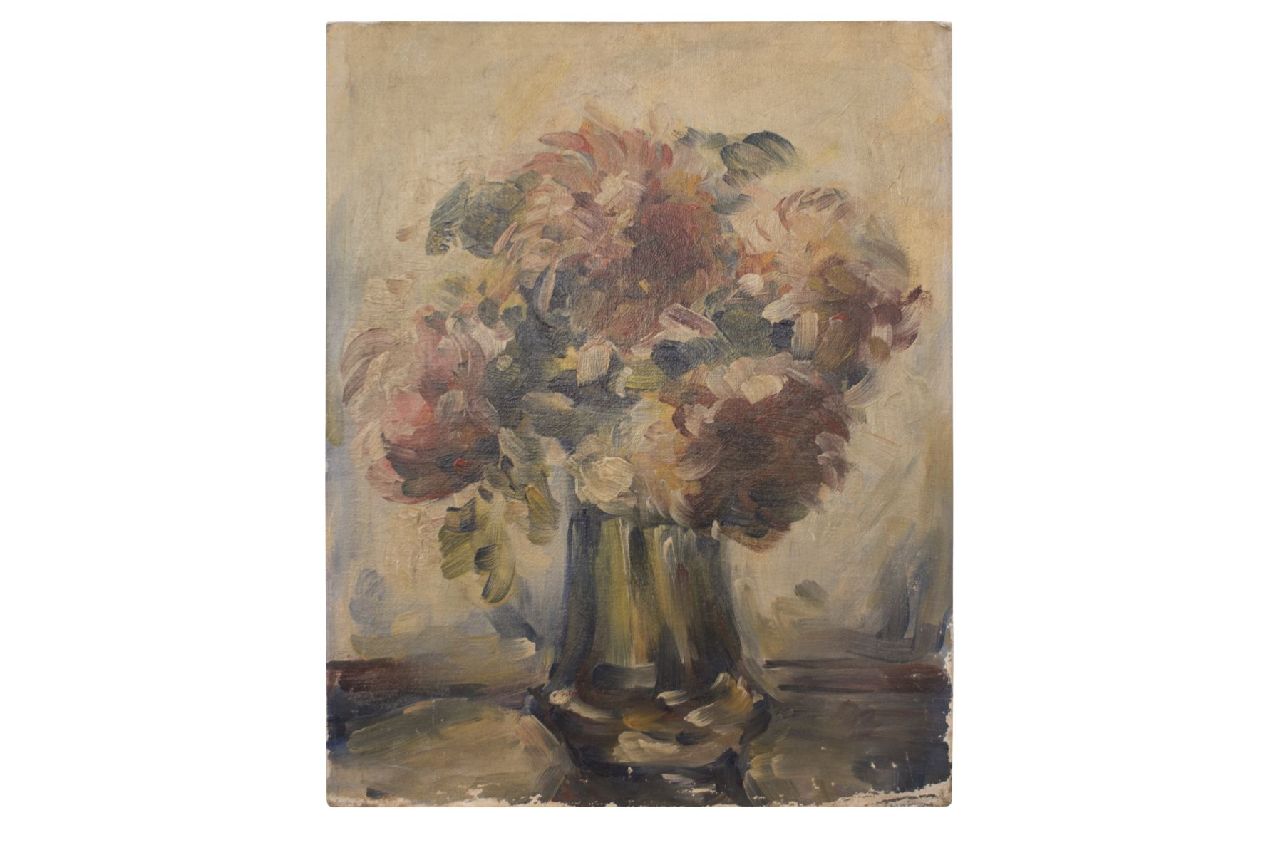 "#40 Painter around 1920 ""Flowers in vase"" 