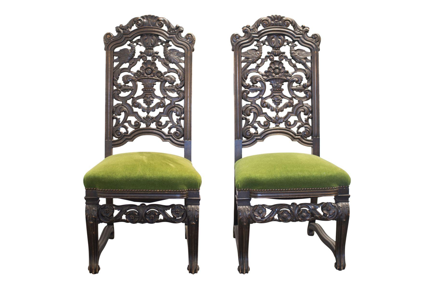 #42 Pair of salon chairs, Belle Epoch style | Paar Salonstühle, Stil Belle Epoche Image