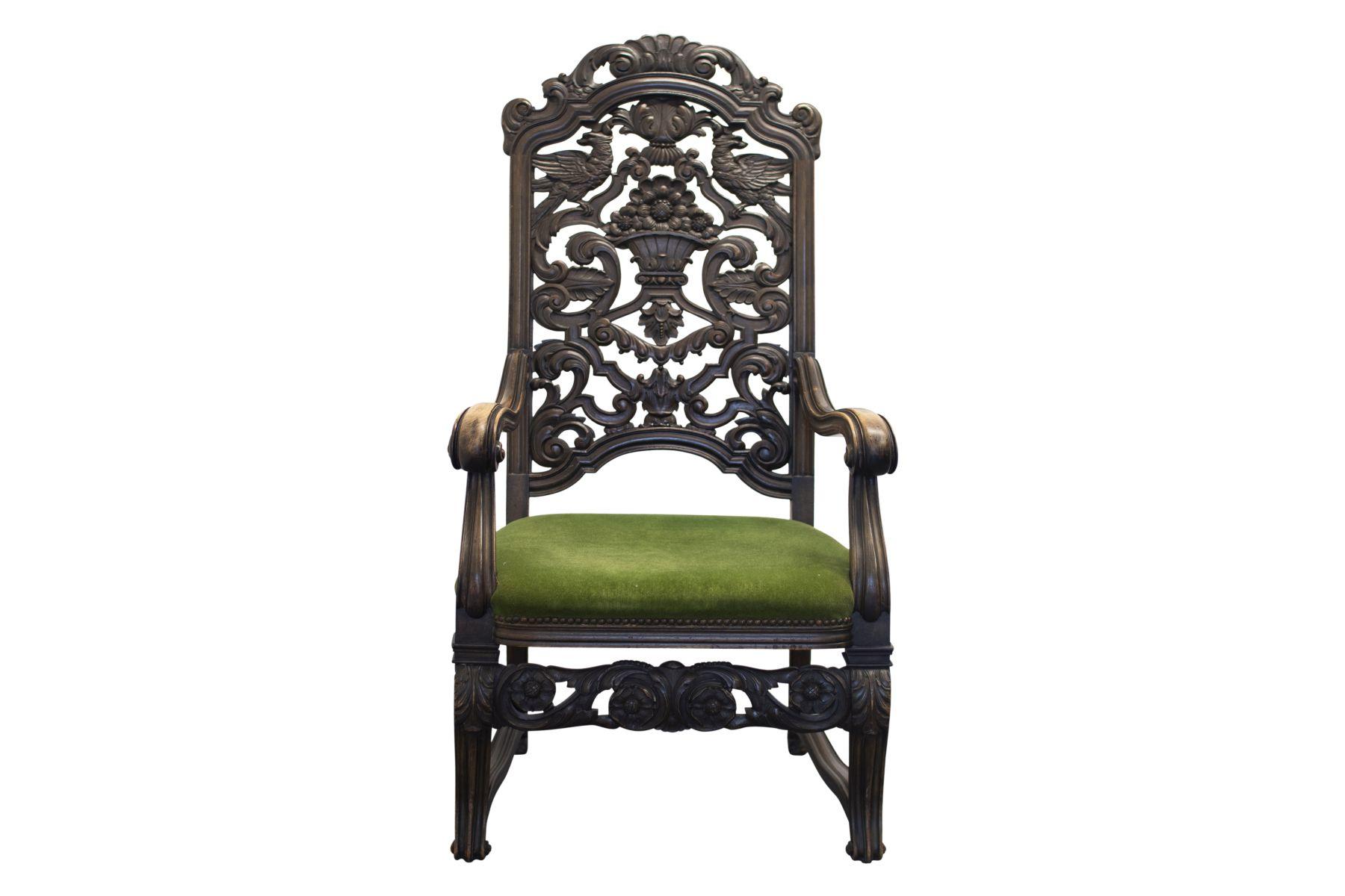 #43 Armchair with carved backrest | Salon-Armlehnstuhl, Stil Belle Epoche Image