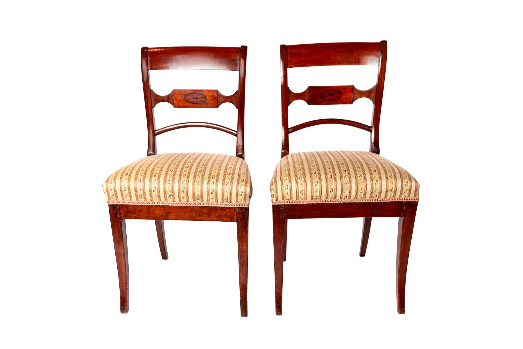 #58 Two Biedermeier chairs | Biedermeierstühle Image
