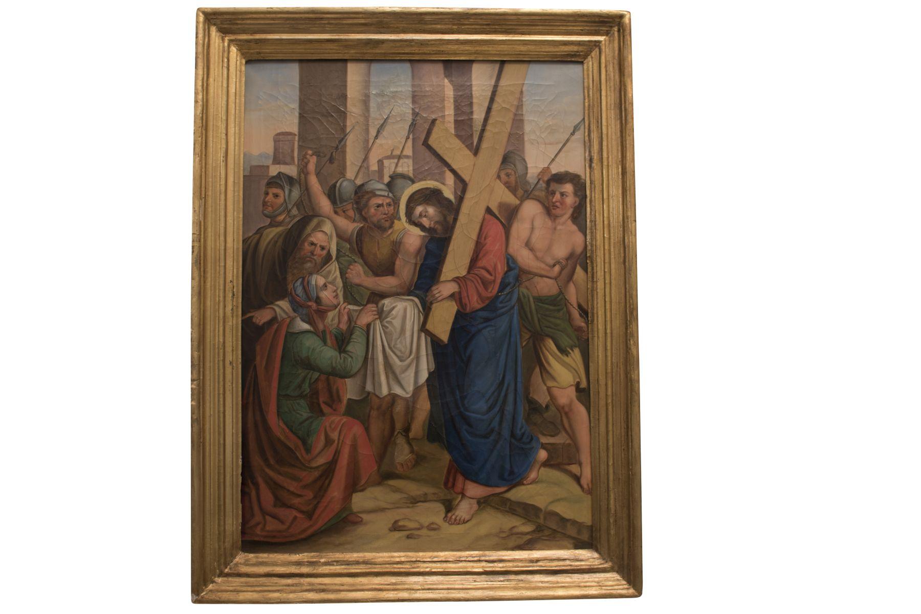 "#88 Italian Painter ""Cloister of Christ"" | Italienischer Maler ""Kreuzgang Christi"" Image"