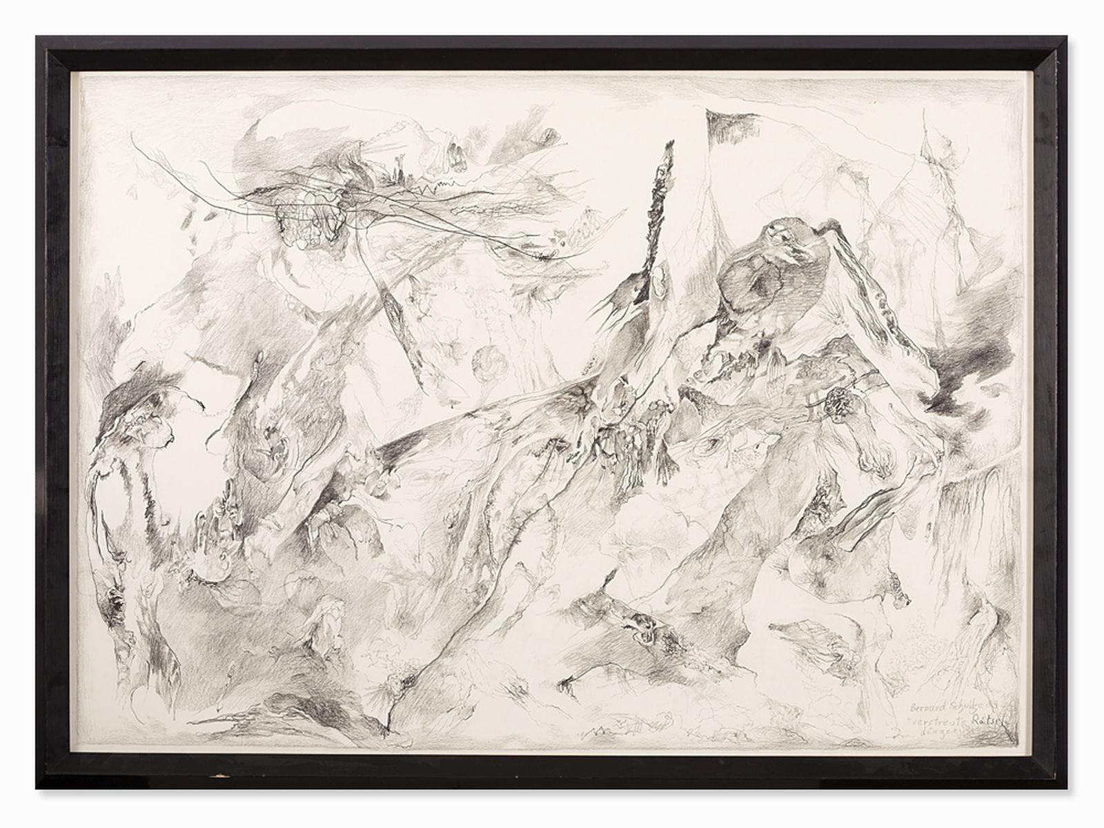 "#111 Bernard Schultze (1915-2005), Scattered mystery things 1989 | Bernard Schultze (1915-2005) "" Verstreute Rätseldinge"" 1989 Image"