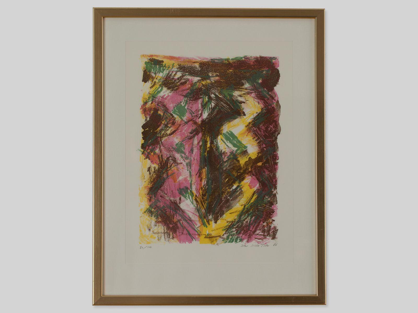 """#122 Jan Sivertsen """"Abstract Composition"""", 1986   Jan Sivertsen (1951) """"Abstrakte Komposition"""" 1986 Image"""