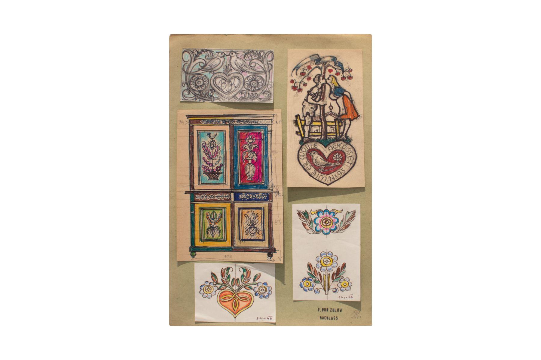 """#134 Franz von Zülow (1883-1963) """" Five posters""""   Franz von Zülow (1883-1963) """"Fünf Plakate"""" Image"""
