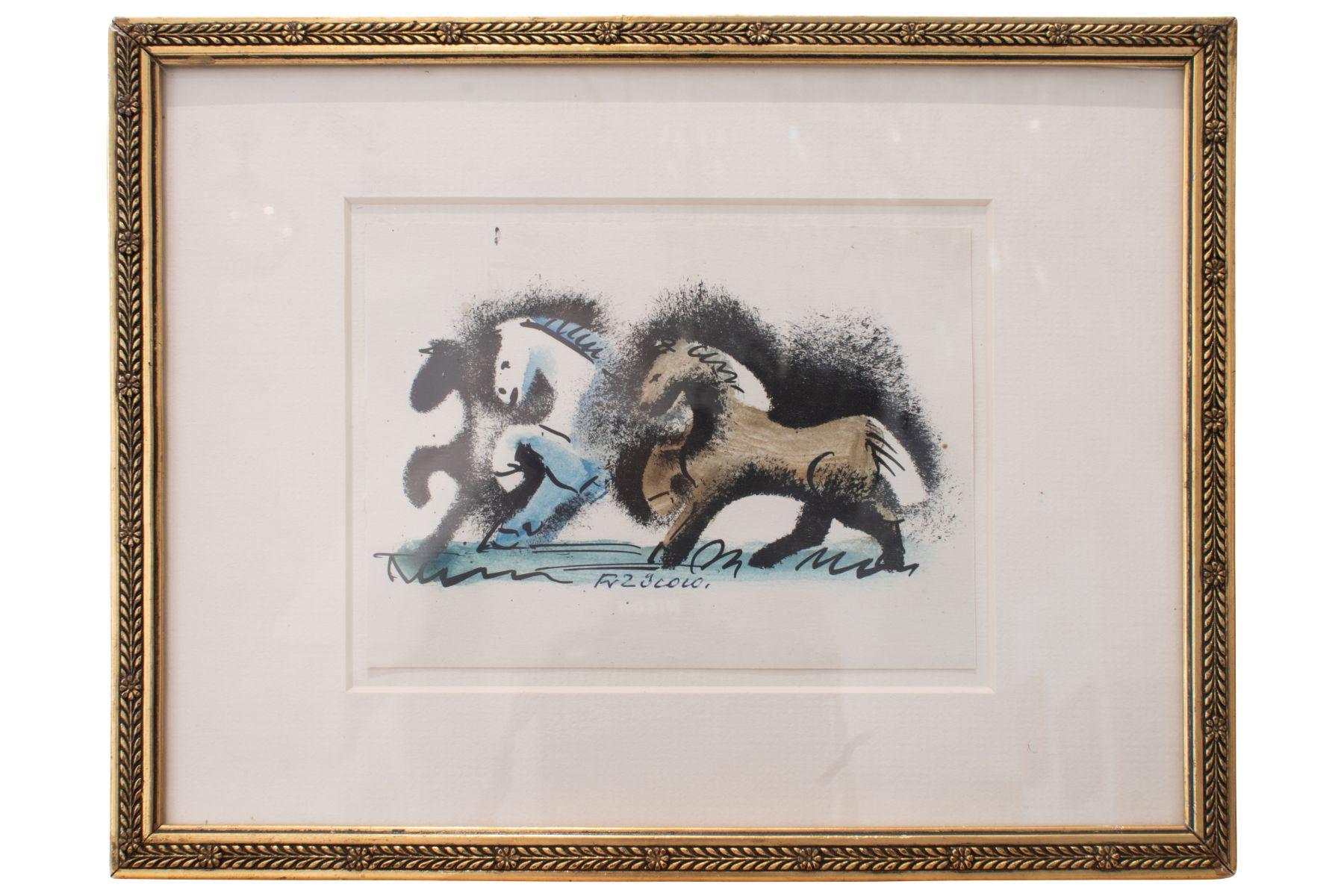 """#135 Franz von Zülow (1883-1963) """" Three Horses""""   Franz von Zülow (1883-1963) """"Drei Pferde"""" Image"""