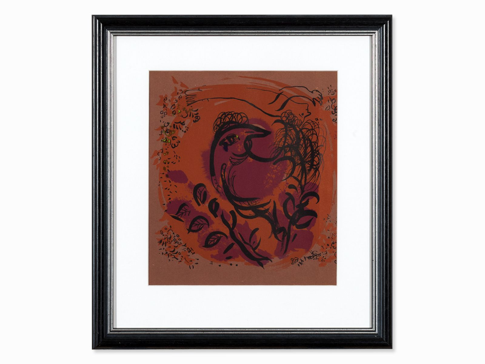 "#141 Marc Chagall, Lithograph, 'Coq', Paris 1960 | Marc Chagall (1897-1985) ""Coq"", Paris 1960 Image"