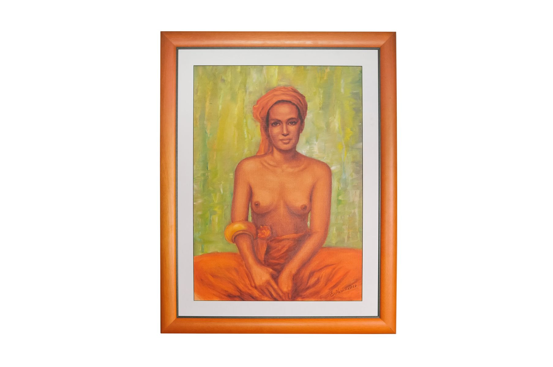 "#147 Erika Kornmesser (1934) ""Bedouin woman with a naked torso""   Erika Kornmesser (1934) ""Beduinenfrau mit nacktem Oberkörper"" Image"
