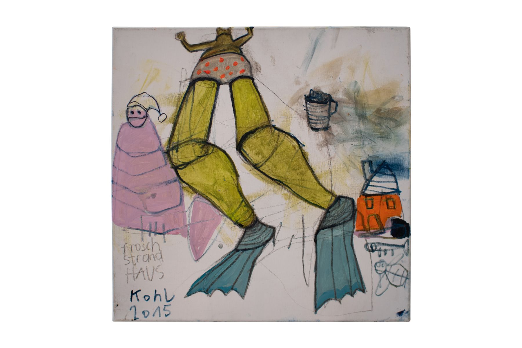 "#51 Peter Kohl(1971) "" Frog beach house"" 2015 | Peter Kohl(1971) ""Frosch Strandhaus"" 2015 Image"