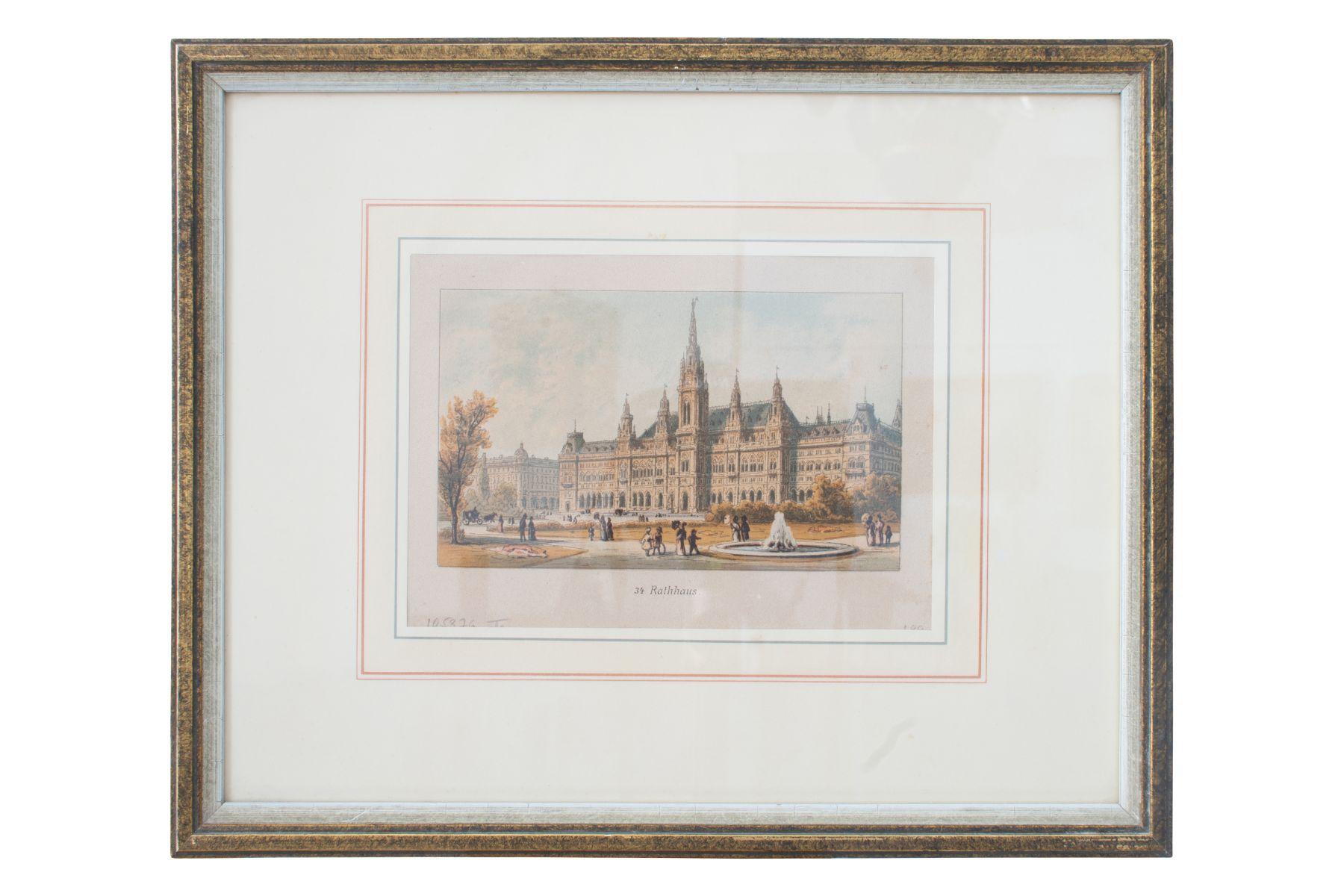 "#72 Johann Varrone (1832-1910) and Eugen Ladislaus Petrovits (1839-1907) ""Vienna City Hall"" | Johann Varrone (1832-1910) und Eugen Ladislaus Petrovits (1839-1907) ""Rathaus Wien"" Image"