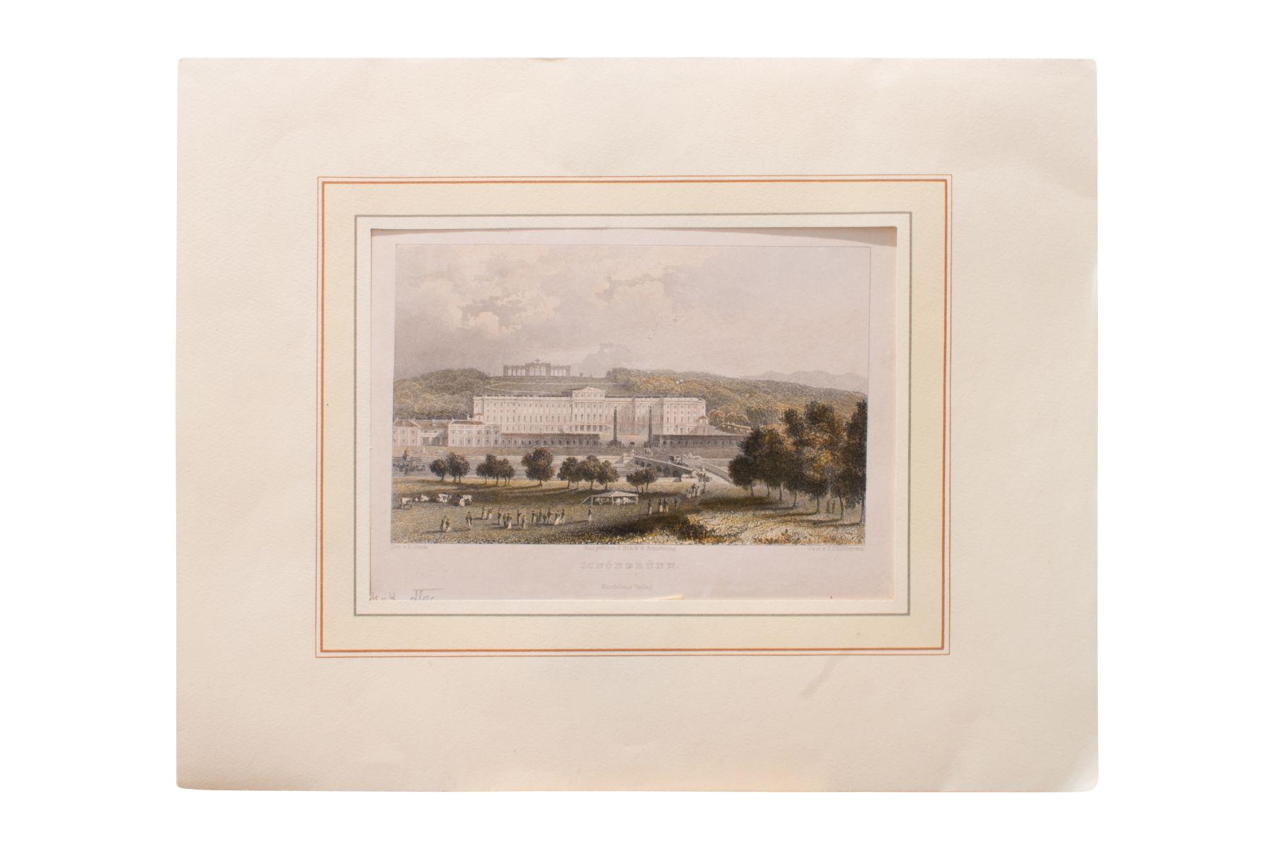 """#74 After Eduard Gurk (1801-1841) """" Schönbrunn""""   Nach Eduard Gurk (1801-1841) """"Schönbrunn"""" Image"""