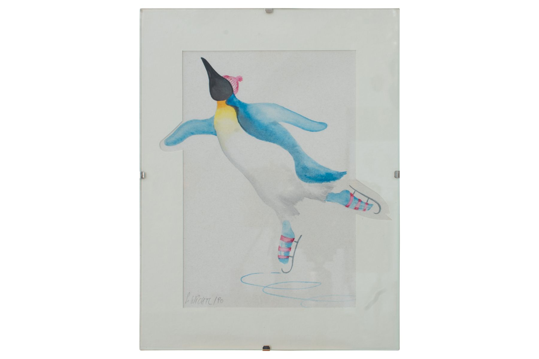 "#86 Silvia Wichtl( 1945) "" Ice dancing penguin"" | Silvia Wichtl (1945) ""Eistanzender Pinguin"" Image"