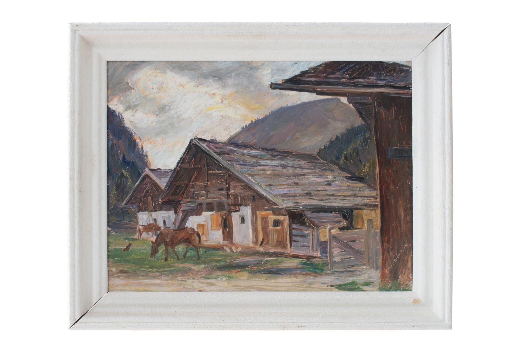 "#99 Hermann Grohm-Rottmayer (1877-1953) ""Farmstead"" | Hermann Grohm-Rottmayer (1877-1953) ""Bauerngehöft"" Image"