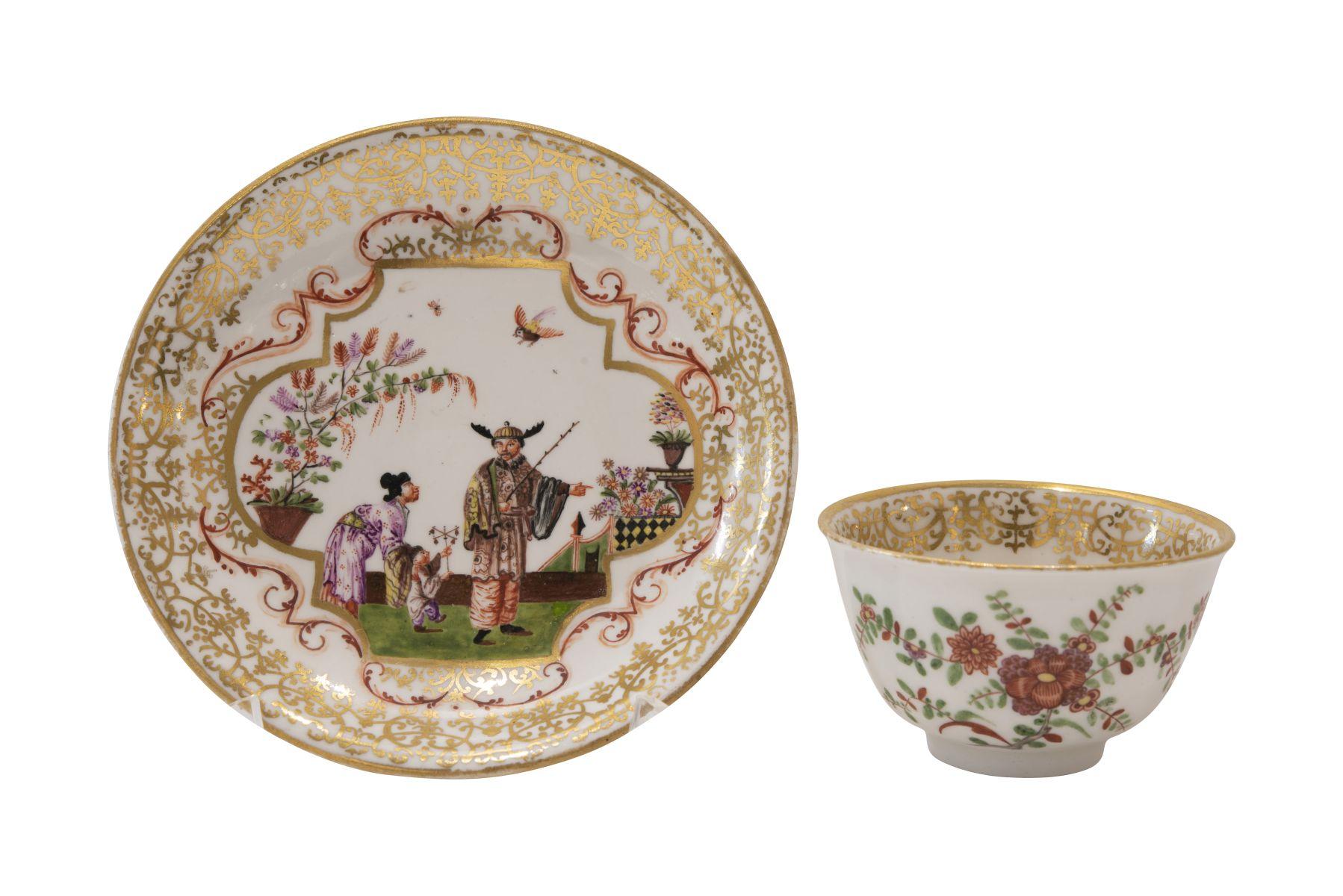 #104 Small cup with lower bowl, Meissen around 1720/30 | Koppchen mit Unterschale Meissen um 1720/30 Image