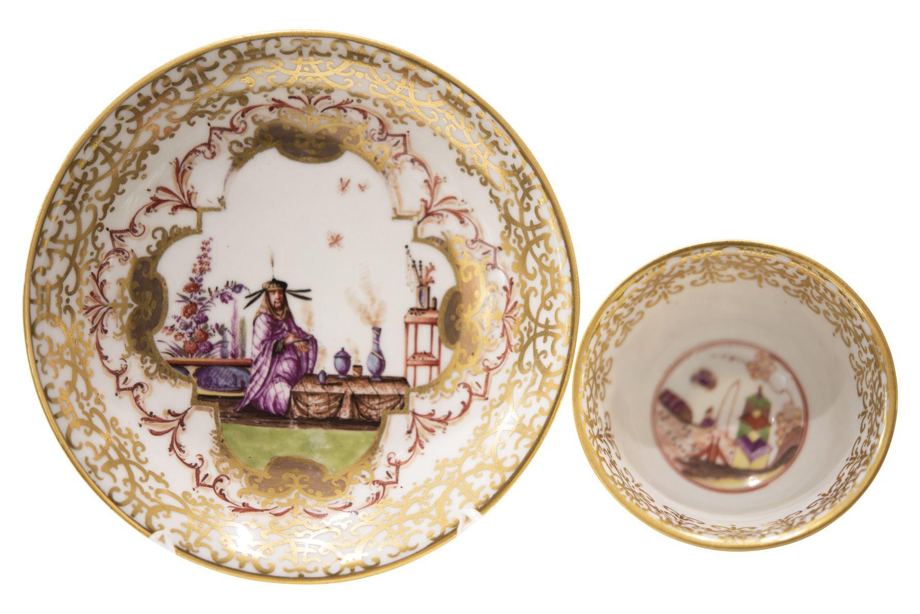 #105 Cup with lower bowl Meissen around 1725/30 without mark | Koppchen mit Unterschale Meissen um 1725/30 Image