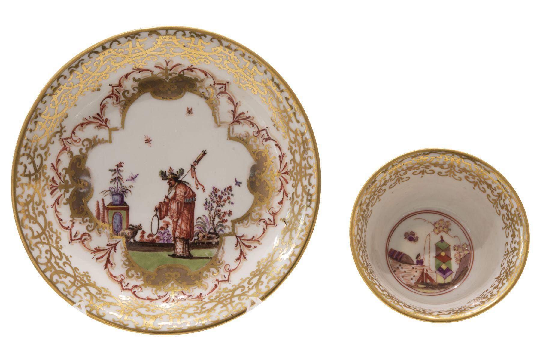 #106 Small cup with lower bowl, Meissen around 1720/30 | Koppchen mit Unterschale Meissen um 1725/30 Image