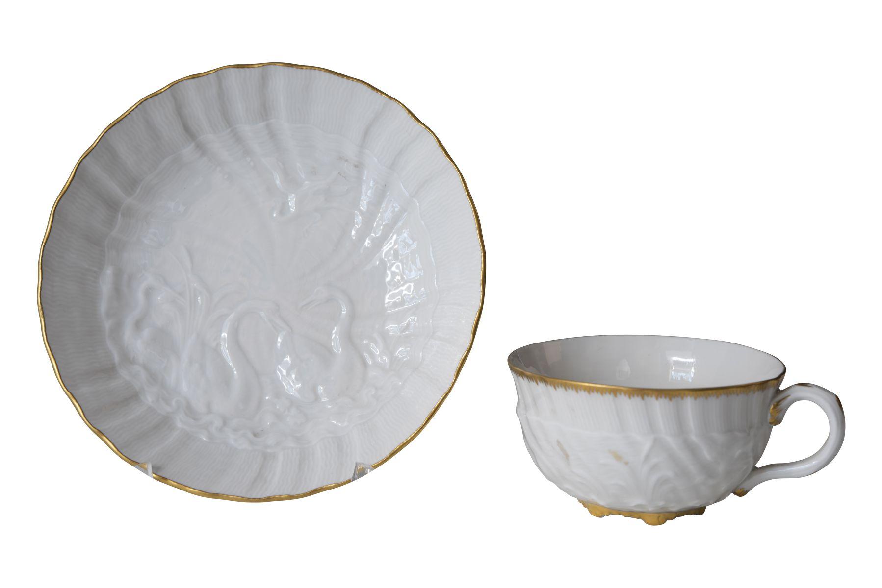 #112 Decorative cup with saucer, 2nd half 20 th centrury | Ziertasse mit Untertasse Meissen 2. Hälfte 20. Jahrhundert Image