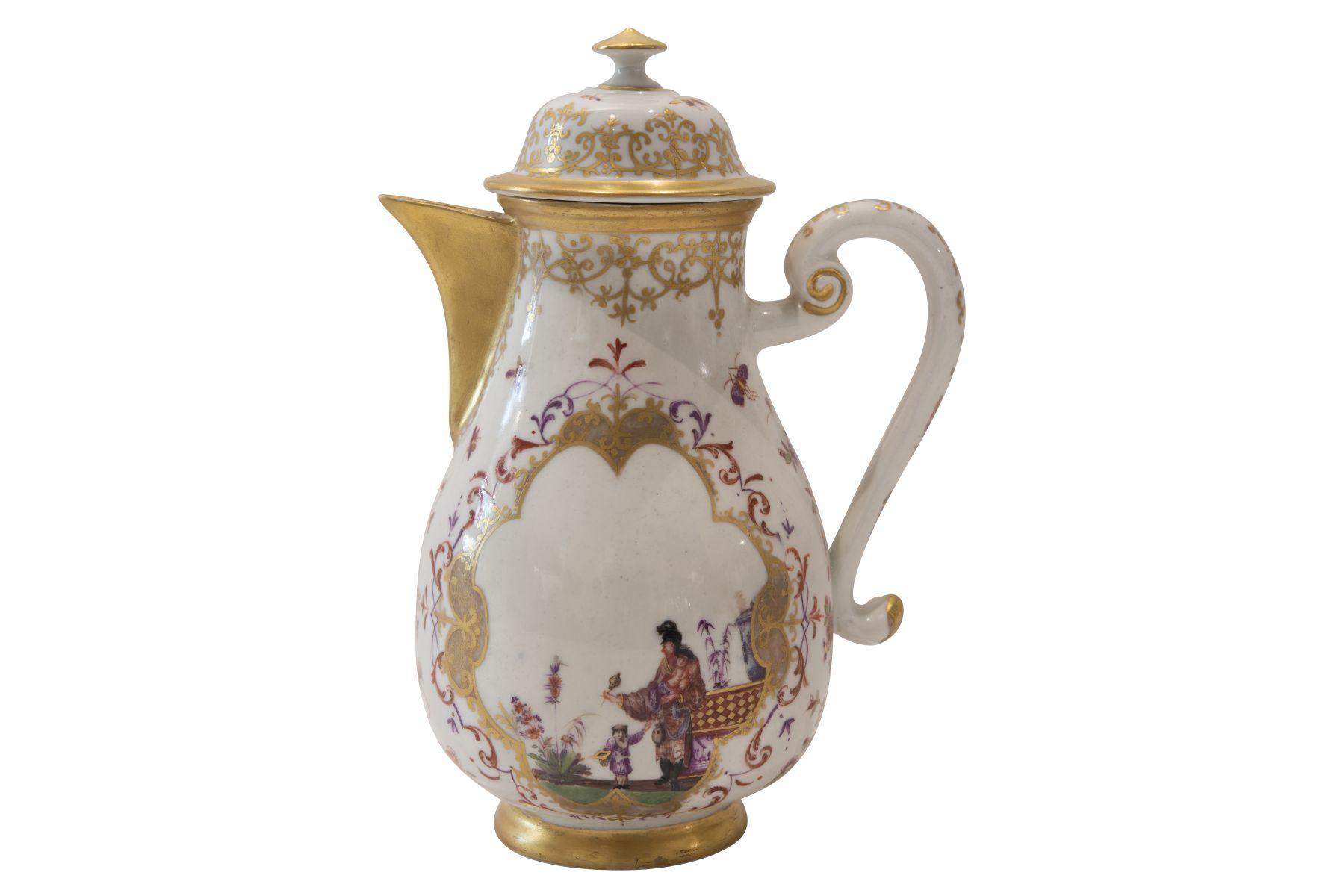 #116 Splendid coffee pot Meissen around 1730 | Prunkvolle Kaffeekanne Meissen um 1730 Image